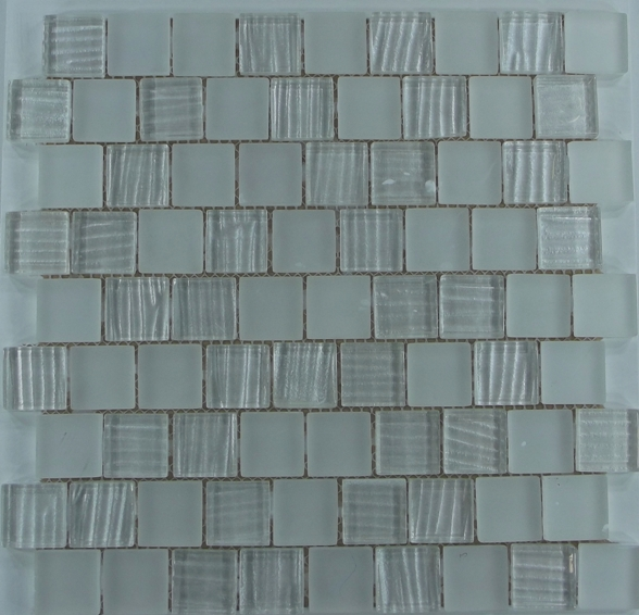 Ripple Glass Mosaic # 01 Pearl